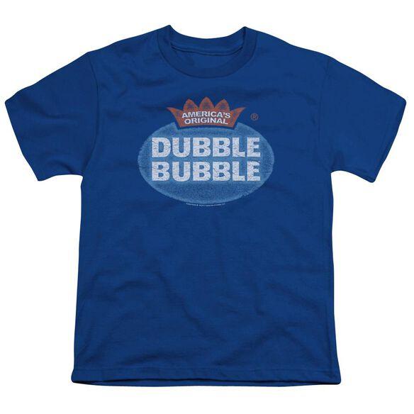 Dubble Bubble Vintage Logo Short Sleeve Youth Royal T-Shirt