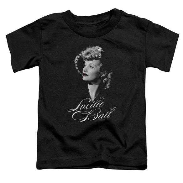 Lucille Ball Pretty Gaze Short Sleeve Toddler Tee Black T-Shirt
