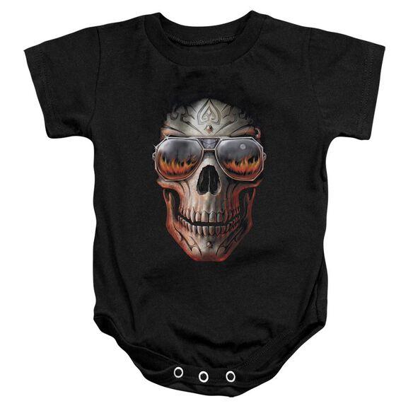 Anne Stokes Hellfire Infant Snapsuit Black