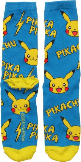 Pokemon Pikachu Pika All Over Print Crew Socks