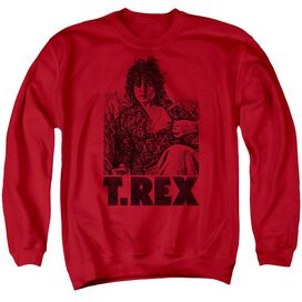 T Rex Lounging Adult Crewneck Sweatshirt