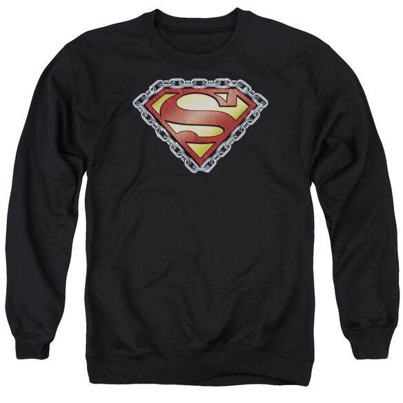Superman Chained Shield Adult Crewneck Sweatshirt