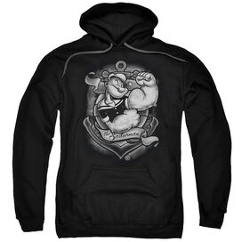 Popeye Anchors Away Adult Pull Over Hoodie