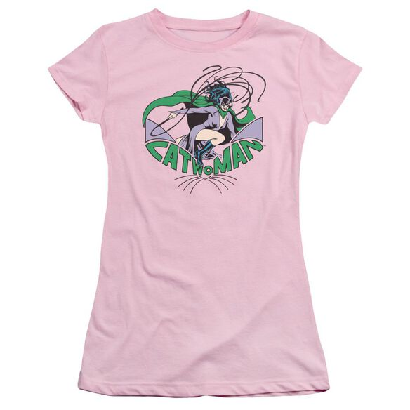 Dc Catwoman Short Sleeve Junior Sheer T-Shirt
