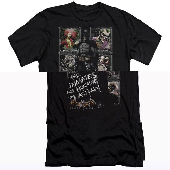 BATMAN AA RUNNING THE ASYLUM - S/S ADULT 30/1 T-Shirt