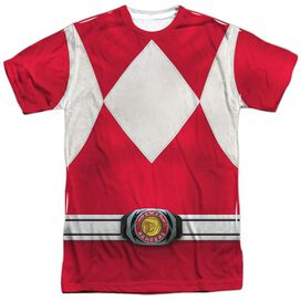 Power Rangers Red Ranger Short Sleeve Adult Poly Crew T-Shirt