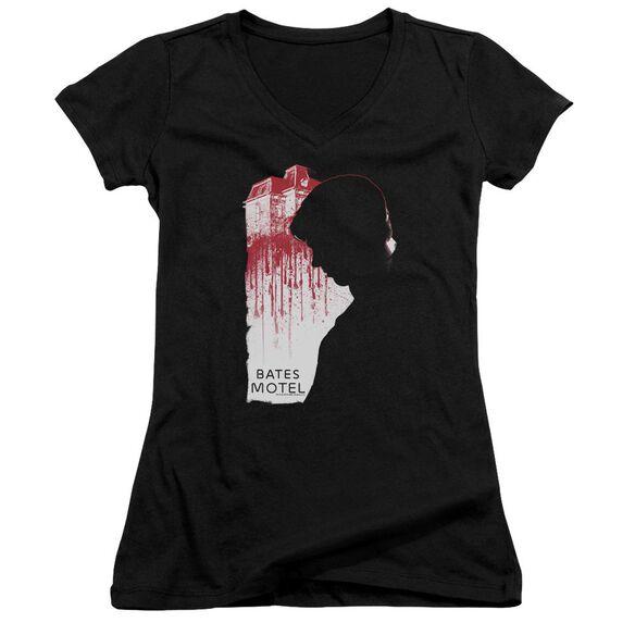 Bates Motel Criminal Profile Junior V Neck T-Shirt