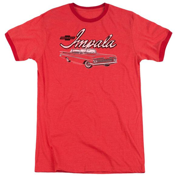 Chevrolet Classic Impala Adult Heather Ringer Red