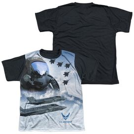 Air Force Pilot Short Sleeve Youth Front Black Back T-Shirt