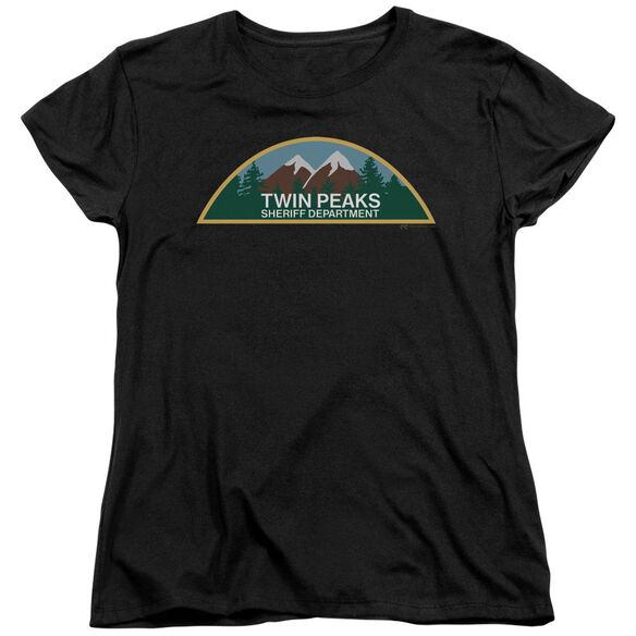 Twin Peaks Sheriff Department Short Sleeve Womens Tee T-Shirt