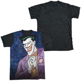 Batman The Animated Series Plotting Short Sleeve Adult Front Black Back T-Shirt