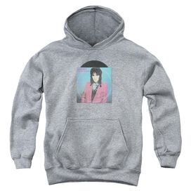 Joan Jett Rock N Roll 45 Youth Pull Over Hoodie Athletic