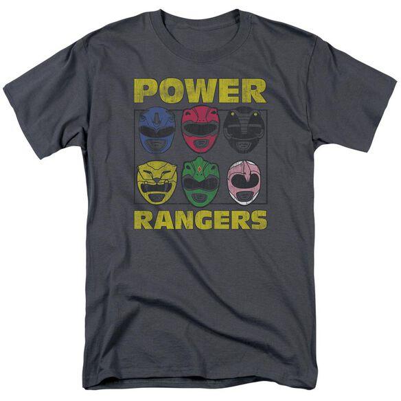 Power Rangers Ranger Heads Short Sleeve Adult T-Shirt