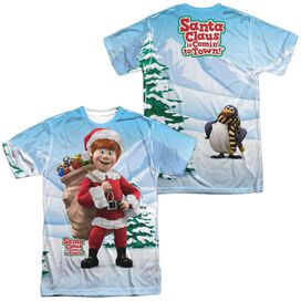 SANTA CLAUS IS COMIN TO TOWN HELPERS (FRONT/BACK PRINT)-S/S ADULT T-Shirt