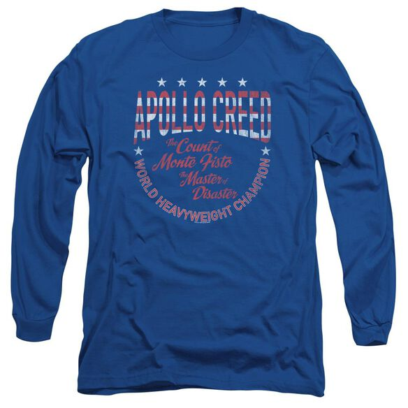 Rocky Count Of Monte Fisto Long Sleeve Adult Royal T-Shirt