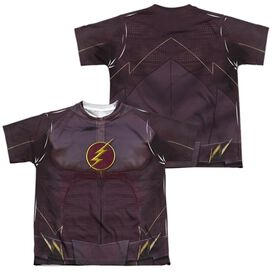 The Flash Flash Uniform (Front Back Print) Short Sleeve Youth Poly Crew T-Shirt