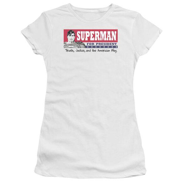 Superman Superman For President Premium Bella Junior Sheer Jersey