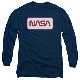 Nasa Rectangular Logo Long Sleeve Adult T-Shirt