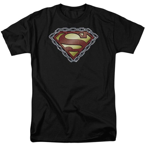 Superman Chained Shield Short Sleeve Adult T-Shirt