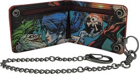 Harley Quinn Bat Logo Bifold Chain Wallet