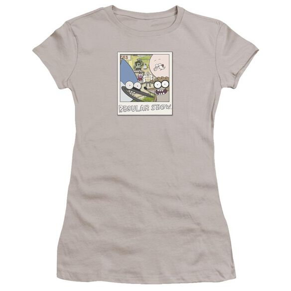 Regular Show Instant Picture Hbo Short Sleeve Junior Sheer T-Shirt