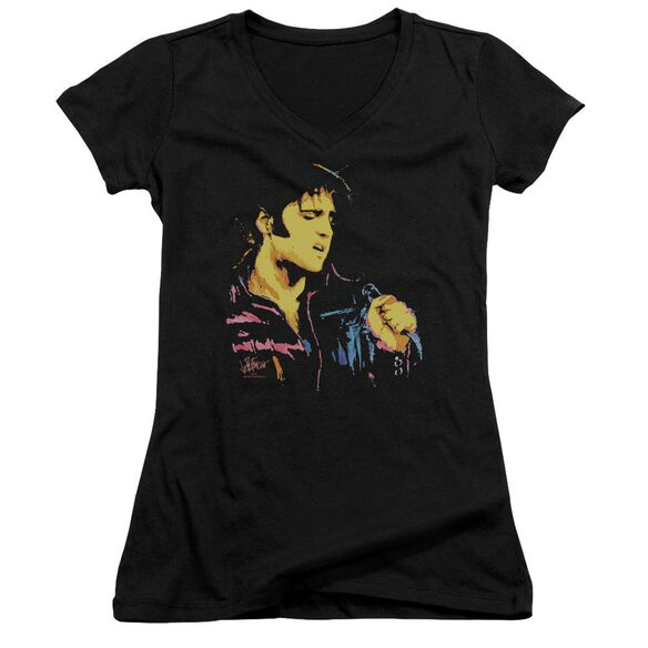 Elvis Neon Elvis Junior V Neck T-Shirt