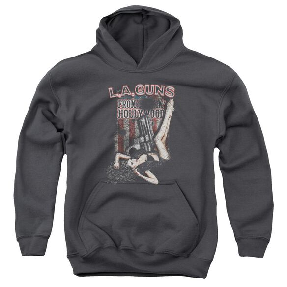 La Guns From Hollywood Youth Pull Over Hoodie