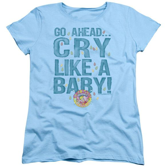 Dubble Bubble Cry Like A Baby Short Sleeve Womens Tee Light T-Shirt