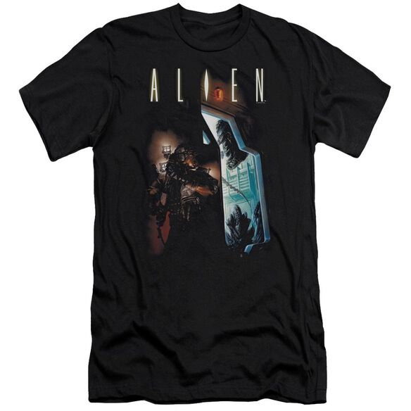 Alien Around The Corner Premuim Canvas Adult Slim Fit