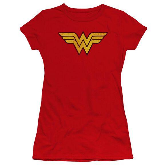 Dc Wonder Woman Logo Dist Premium Bella Junior Sheer Jersey