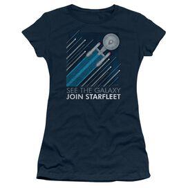 Star Trek Starfleet Recruitment Poster Short Sleeve Junior Sheer T-Shirt