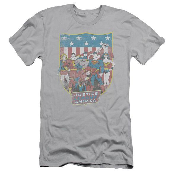 Dc Jla American Shield Short Sleeve Adult T-Shirt