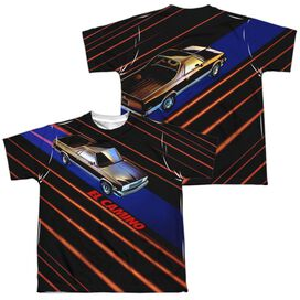 Chevrolet Laser Camino (Front Back Print) Short Sleeve Youth Poly Crew T-Shirt