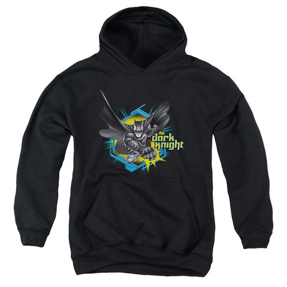 Dark Knight Hexagon Punch Youth Pull Over Hoodie