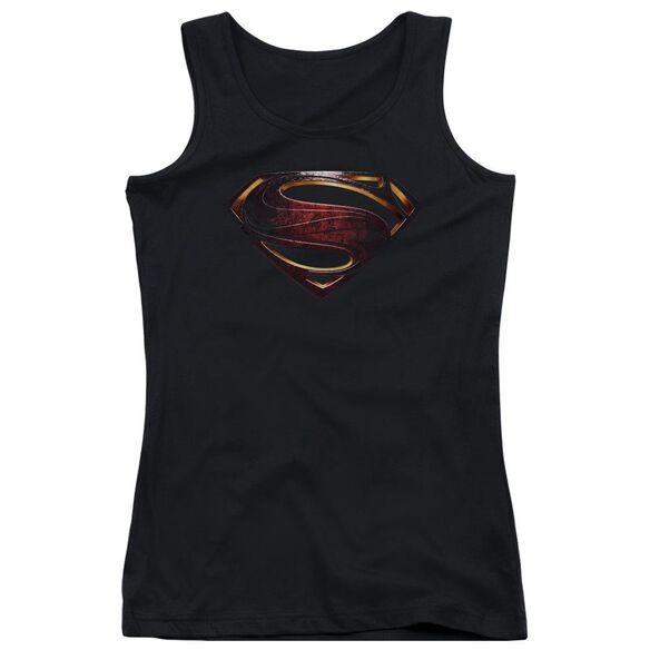 Justice League Movie Superman Logo Juniors Tank Top