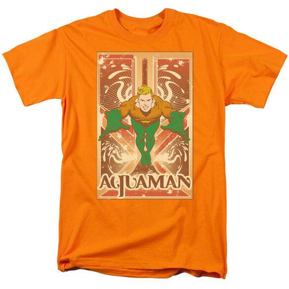 DC AQUAMAN - S/S ADULT 18/1 - ORANGE T-Shirt