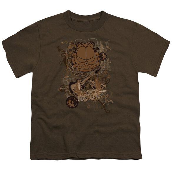 Garfield Rock Rules Short Sleeve Youth T-Shirt