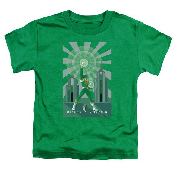 Power Rangers Green Ranger Deco Short Sleeve Toddler Tee Kelly Green T-Shirt