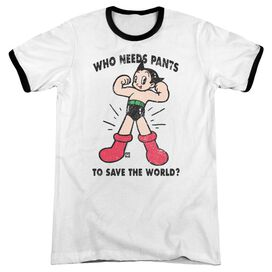 Astro Boy Who Needs Parts Adult Ringer White Black