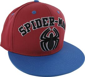 Spiderman Spider Logo and Name Snapback Hat