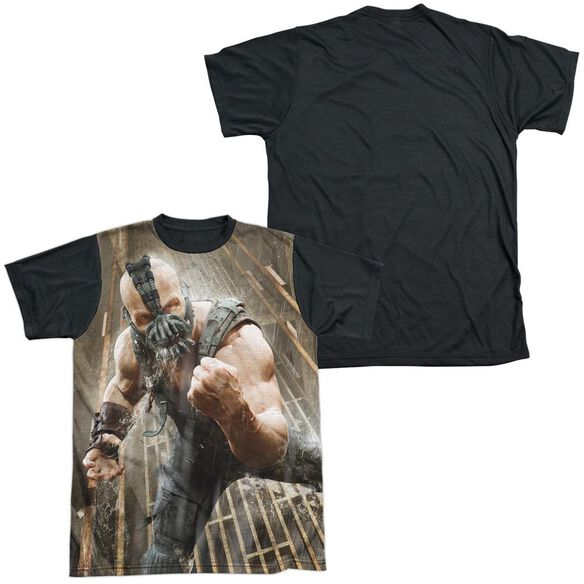 Dark Knight Rises Rain Rage Short Sleeve Adult Front Black Back T-Shirt