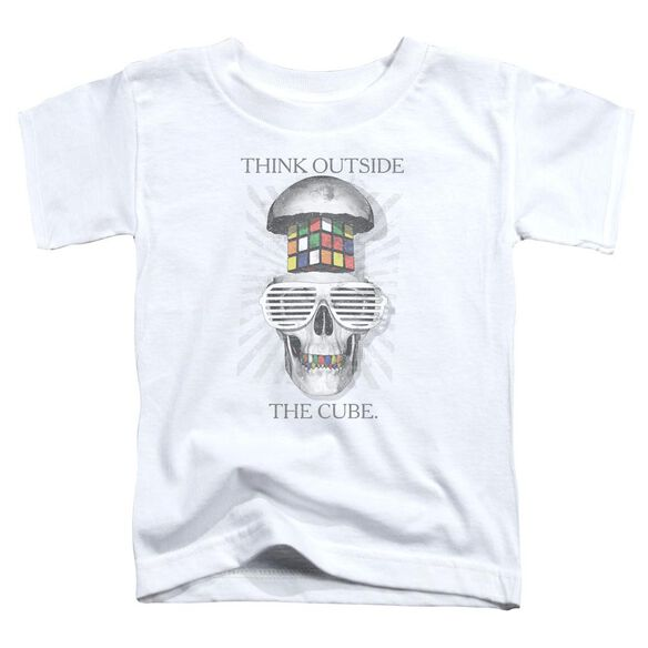 Rubik's Cube Outside The Cube Short Sleeve Toddler Tee White T-Shirt