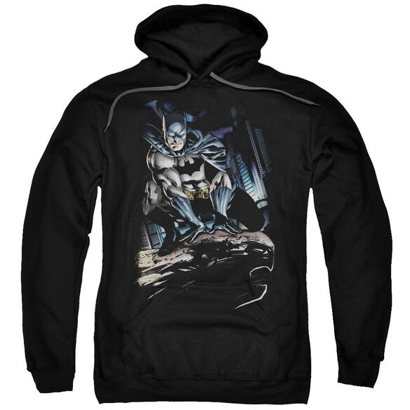 Batman Perched Adult Pull Over Hoodie