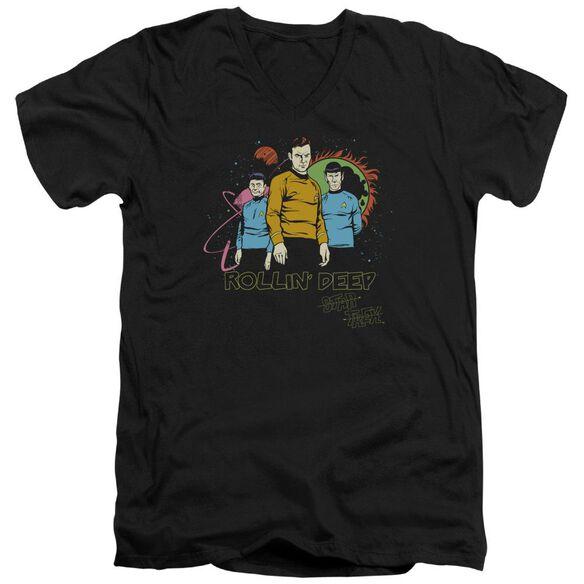 Star Trek Rollin Deep Short Sleeve Adult V Neck T-Shirt