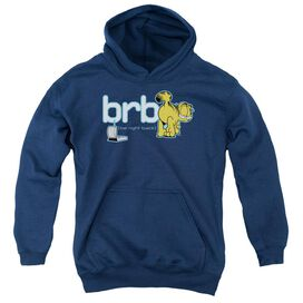 Garfield Be Right Back-youth Pull-over Hoodie - Navy