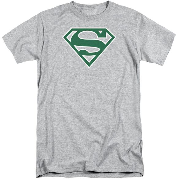 Superman Green & White Shield Short Sleeve Adult Tall Athletic T-Shirt