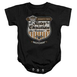 Night Ranger Motorin Infant Snapsuit Black