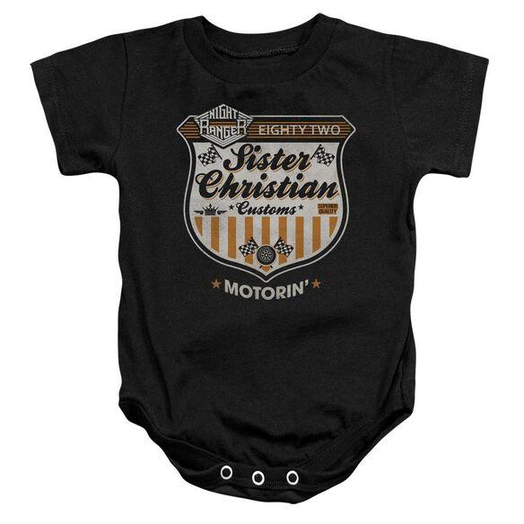 Night Ranger Motorin Infant Snapsuit Black