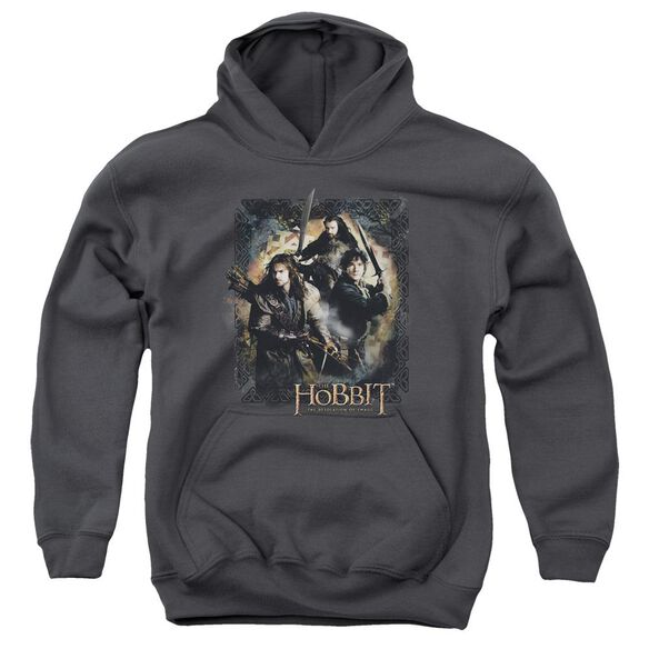 Hobbit Weapons Drawn Youth Pull Over Hoodie
