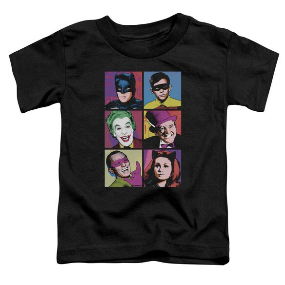 Batman Classic Tv Pop Cast Short Sleeve Toddler Tee Black T-Shirt